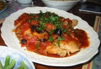 Recette poulet à la provencale (poulet)