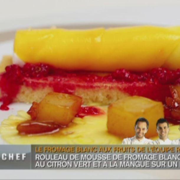 Recette roulé de mangue à la mousse de fromage blanc citron vert ...