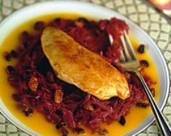 Recette filet de dinde au chou rouge