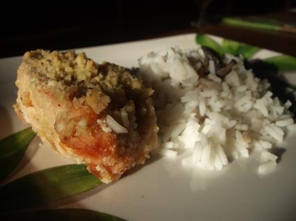 Recette de crumble de saumon au boursin