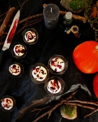 Recette de cupcakes d'halloween au chocolat blanc framboise ...