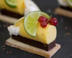 Recette géométrie de chocolat citronné