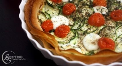Recette de tarte légère courgette, tomate, mozzarella