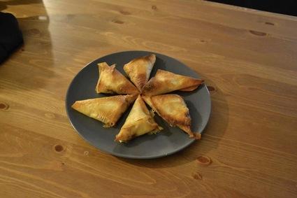 Recette de triangle camembert pommes oignons