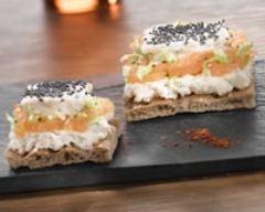 Recette mousse de saumon au naturel sur pain craquant