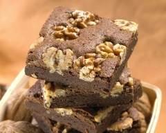 Recette carrés au chocolat noir et noix