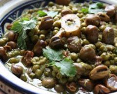 Recette tajine de boeuf aux fèves et petits pois