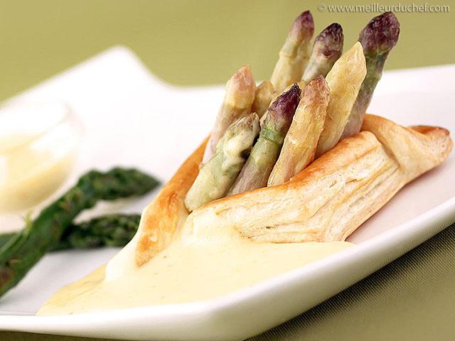 Feuilleté d'asperges, sauce mousseline  notre recette avec photos ...