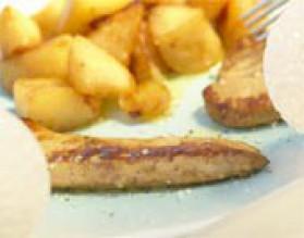 Foie gras poêlé aux reines des reinettes pour 4 personnes ...