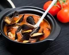 Recette soupe de moules à la tomate