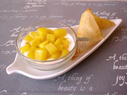 Recette de verrines ricotta-mangue et ses croustillants