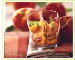 Recette salade de pêches et nectarines à la menthe et au gingembre