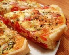 Recette tarte légère à la tomate