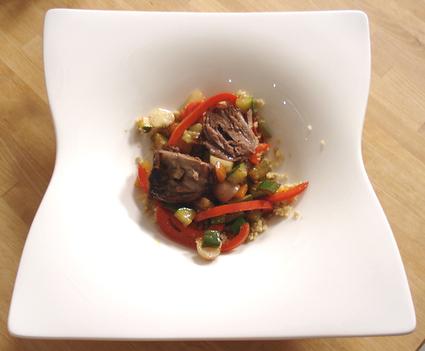 Recette de couscous en salade, souris d'agneau confites