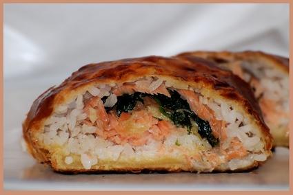 Recette de feuilleté au saumon fumé