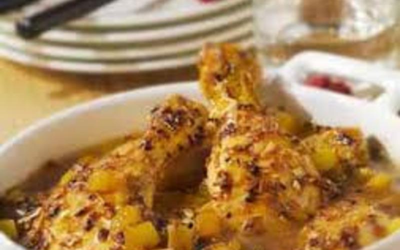 Recette poulet aux abricots économique et facile > cuisine étudiant