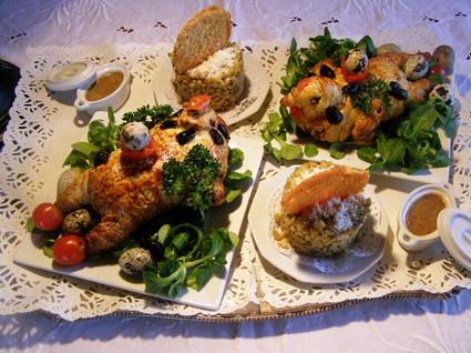 Recette de cailles en croûte farcies au foie gras