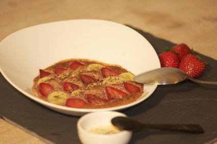 Recette de gratin fraises-bananes au chocolat