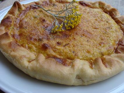 Recette de tarte courgette lardon curry