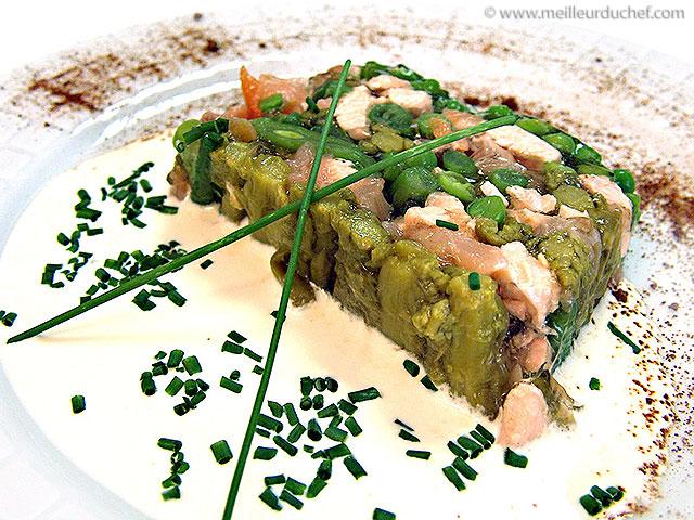 Terrine de saumon aux légumes verts  recette de cuisine illustrée ...