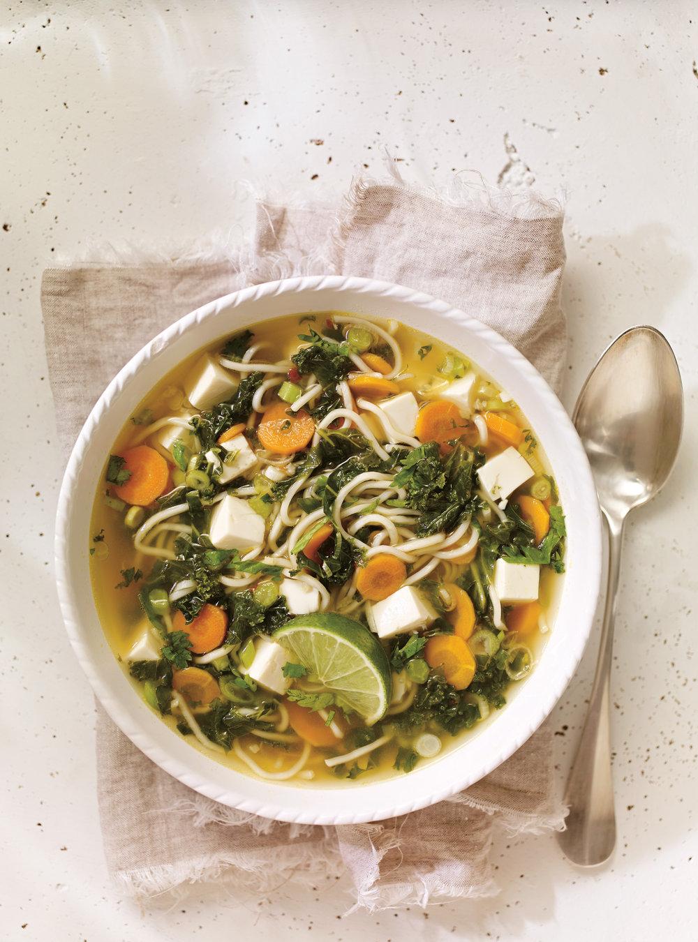 Soupe au tofu et au kale | ricardo