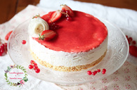 Recette de cheesecake fraise & fleur d'oranger