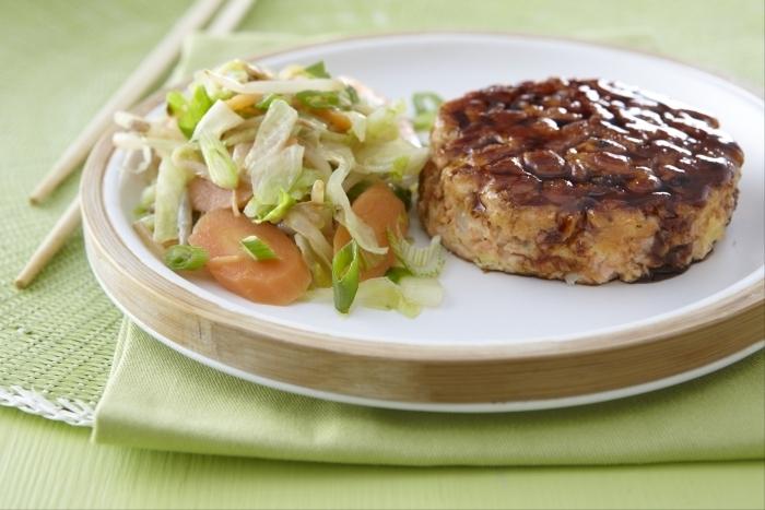 Recette de saumon taillé au couteau façon teriyaki, wok de légumes