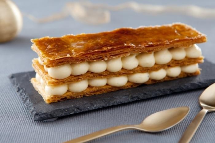 Recette de mille-feuille tradition à la vanille bourbon, caramel à la ...