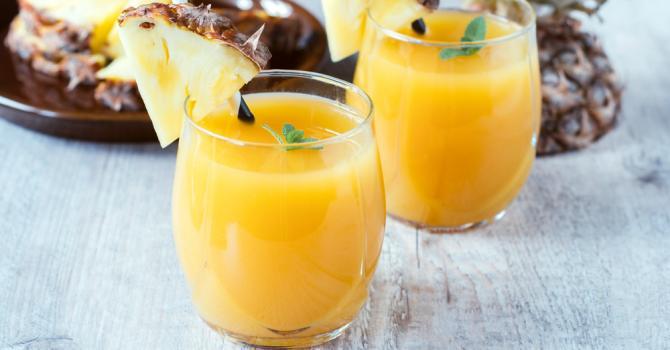 Recette de boisson amincissante à l'ananas pour maigrir des cuisses