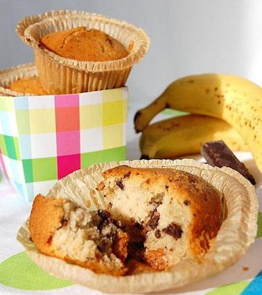 Recette de muffins banane, amande et pépites de chocolat
