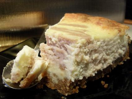 Recette de cheesecake marbré chocolat blanc et crème de marron ...