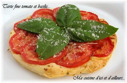Recette de tarte fine tomate et basilic