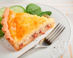 Recette quiche lorraine légère au fromage blanc