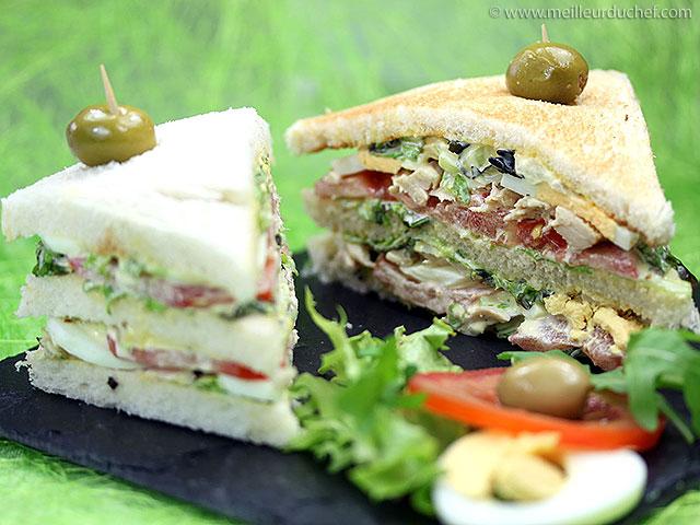 Club sandwich  recette de cuisine avec photos  meilleurduchef.com