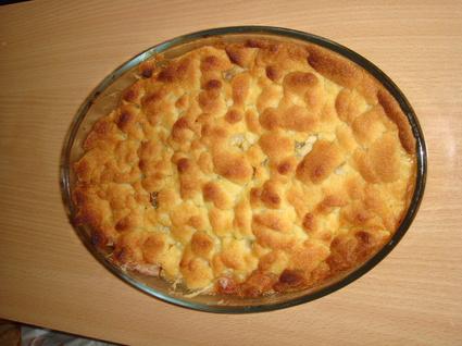 Recette de crumble aux pommes et crème fraîche