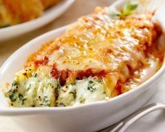 Recette cannelloni aux épinards et à la ricotta