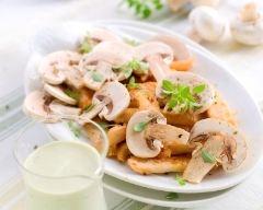 Recette champignons de paris crus en salade