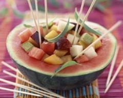 Recette salade de fruits en pastèque surprise