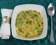 Potage à la marjolaine fraîche pauvre en sel   cuisine az