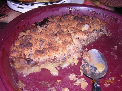 Recette de crumble pommes/chocolat