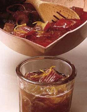 Confiture rhubarbe et pamplemousse pour 4 personnes