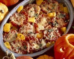 Recette gratin de potiron et tomates minceur