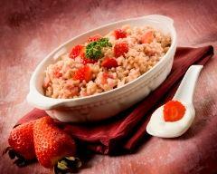 Recette riz au lait aux fraises