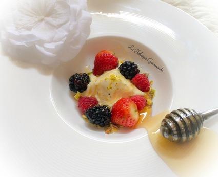 Recette de semifreddo à la fleur d'oranger miel et pistaches
