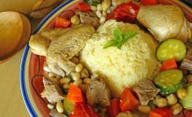 Couscous mouton et poule pour 7 personnes