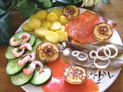 Recette assiette de poissons fumés