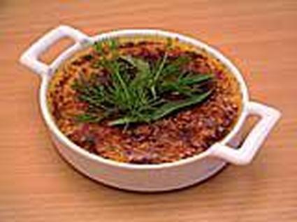 Recette de crème brûlée au foie gras et aux herbes