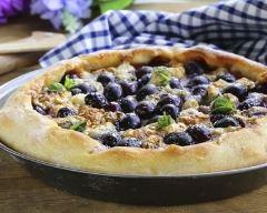 Recette tarte aux raisins et bleu d'auvergne