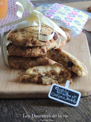 Recette de cookies aux noisettes et crêpes dentelles