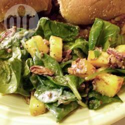 Recette salade d'épinards aux pêches et noix de pécan. – toutes ...
